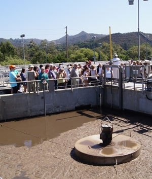 Guests touring the Tapia Water Reclamation Facility