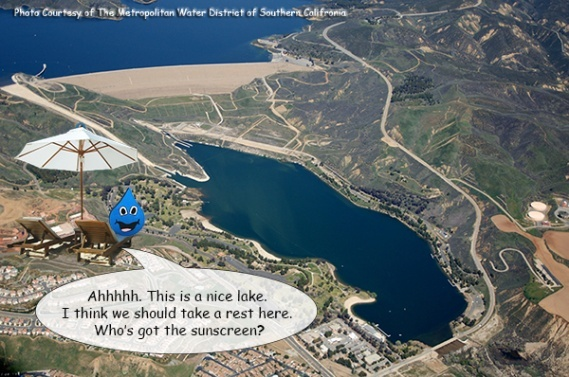 This is Castaic Lake, but I see two lakes...