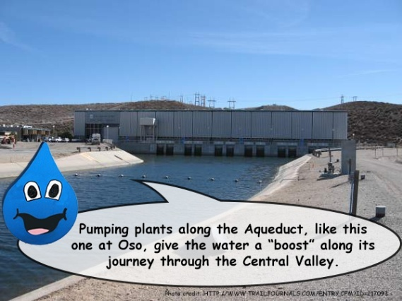 How many pumping plants do you need to pump this water?