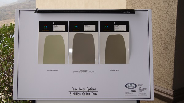 These are the different color choices for the tank.