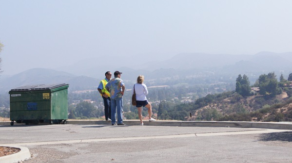 Residents looking out towards Westlake and Three Springs.