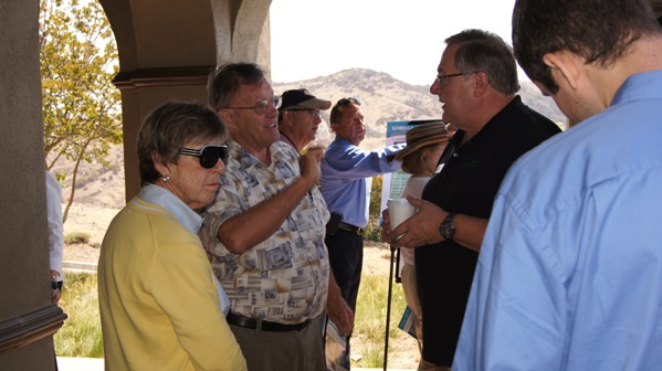 Shirley & Michael Richards talking about potential traffic with Jeff Reinhardt.