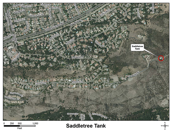 Saddletree Tank Vicinity Map