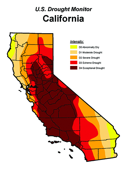CA-Drought Map