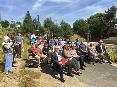 Community leaders, residents, staff and contractors came to mark the completion of the project.