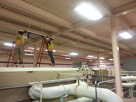 Installation of new energy-efficient LED lighting