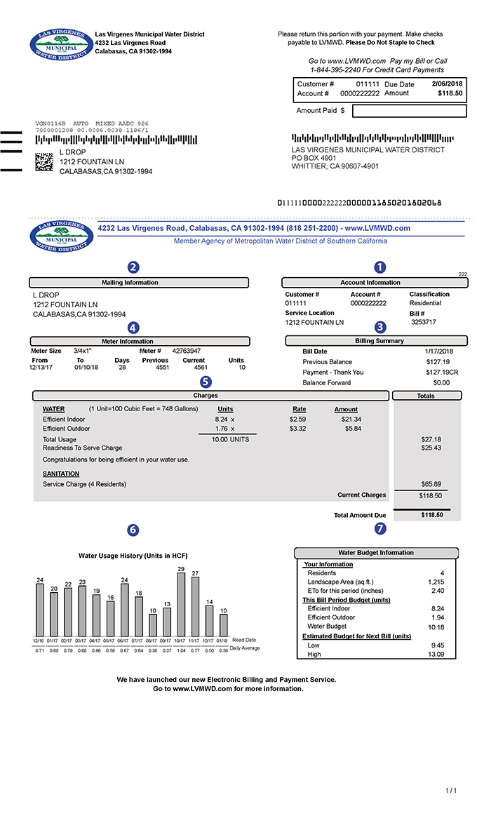 How to read your water bill image