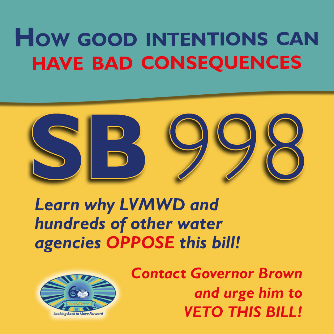 SB 998 - How good intentions can have bad consequences