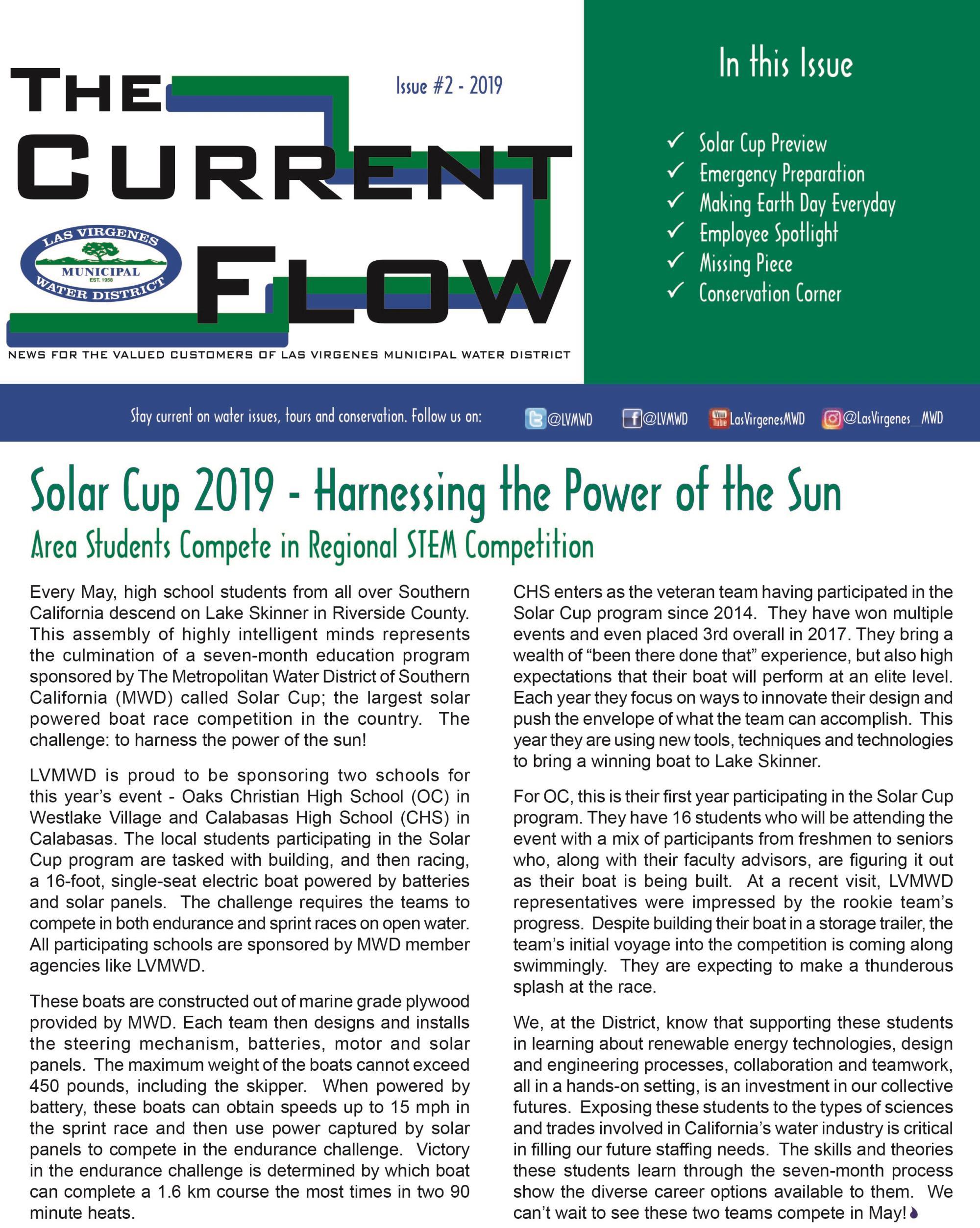 Customer Newsletter - The Current Flow | Las Virgenes Municipal