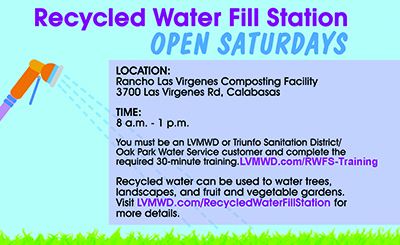 Recycled Water Fill Station - Open Saturdays