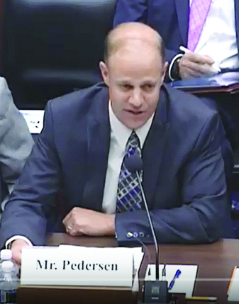 General Manager Dave Pedersen speaks to Congressional committee - 2017